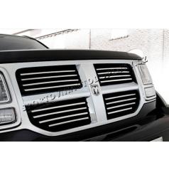 Dodge Nitro - nerez chróm lišty prednej masky - Omsa Line