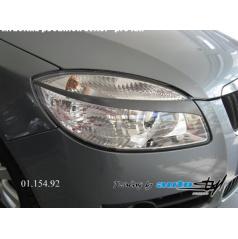 Škoda Fabia II - mračítka predných svetiel - pre lak