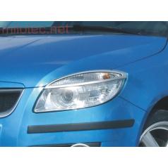 Kryty svetlometov Milotec (mračítka) ABS strieborné Škoda Roomster, Fabia II