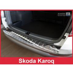 Ochranný panel zadního nárazníku Škoda Karoq  nerez černá lesklá