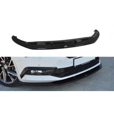 Spoiler pod predný nárazník Ver.3 pre Škoda Superb Mk3, Maxton Design (Carbon-Look)