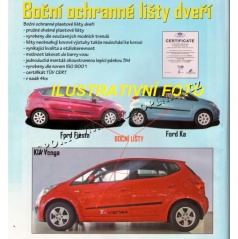 Boční ochranné lišty dveří (F-4), Fiat Panda. 2003+, 5 dveř.