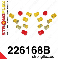 VW Golf V 2003-2008 Strongflex zostava silentblokov len pre zadnú nápravu 16 ks