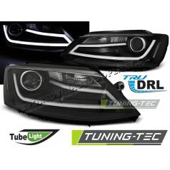 VW Jetta VI 1.2011-  přední čirá světla Tube Light black (LPVWK8)