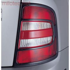 Kryty zadných svetiel Milotec (masky) - ABS karbón, Škoda Fabia I Combi, Sedan