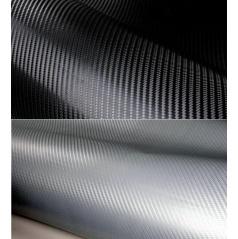 3D Karbónová fólia čierna a strieborná