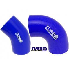 TurboWorks silikónové koleno 45 ° a 90 ° modré