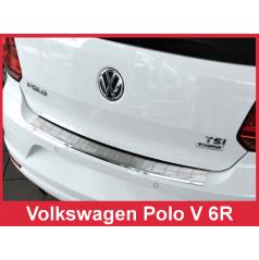 Nerez kryt ochrana prahu zadného nárazníka Volkswagen Polo V 6R 2014+