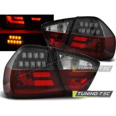 BMW E90 03.2005-08.2008 zadné LED lampy red white black BAR (LDBM74)