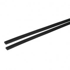 Veľmi odolný chránič hrán dverí čierny 2x65 cm