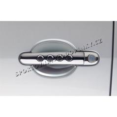 Kryty pod kľučky dverí - malé, 2 ks, ABS - design matný chróm, Roomster, Citigo