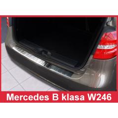 Nerez kryt-ochrana prahu zadního nárazníku Mercedes B W 246 2011+
