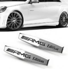 Znak Mercedes AMG kovové chróm vyhotovenie- 1 ks