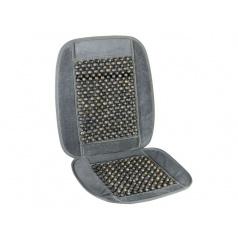 Poťah sedadla s guličkami sivý lem 93x44cm