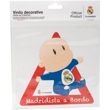 Originálne samolepka Dieťa v aute s logom Real Madrid