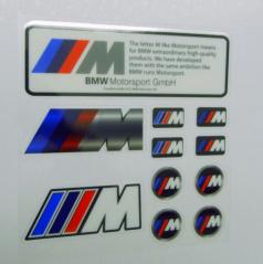 Sada samolepiek BMW M POWER 11 ks