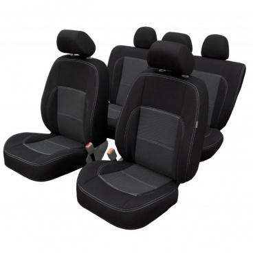 Veľmi kvalitné autopoťahy Dacia Duster II 2011-18 (delená zadná sedačka + predná lakťová opierka)