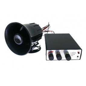 Policajná siréna vrátane mikrofónu