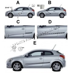 Boční ochranné lišty dveří - Chevrolet Spark, 2012 -