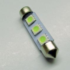 3 SMD LED žiarovka sulfit biela 42 mm - 1 ks