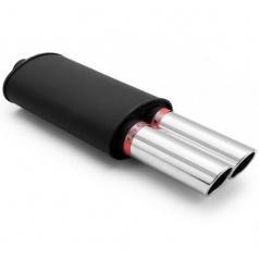 Sportovní výfuk RM17 DUAL 2x76 mm šikmé, vstup 50 mm
