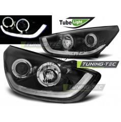 Hyundai Tucson IX35 2010- přední světla black TUBE LIGHT (LPHU07)