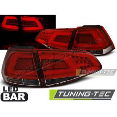 VW Golf 7 2013- zadní lampy red white LED BAR (LDVW02)