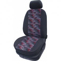 Autopoťahy Velúr E-Škoda Octavia II-delené zadné sedačka + lakťová opierka-červená planéta