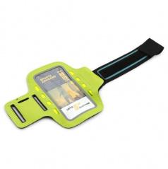 Elegantný reflexný držiak smartphonu na paži 8 LED zelený