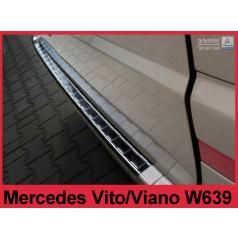 Nerez kryt-černá ochrana prahu zadního nárazníku Mercedes Vito, Viano W 639 2003+