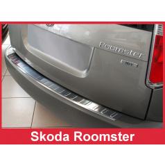 Nerez kryt- ochrana prahu zadného nárazníka Škoda Roomster 2006-12