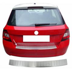 Nerez chróm ochranný panel zadného nárazníka Omtec Škoda Fabia III hatchback