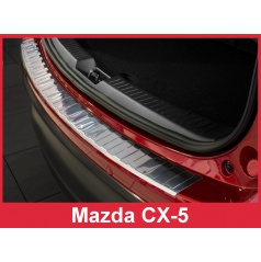 Nerez kryt-ochrana prahu zadního nárazníku Mazda CX-5 2012-17
