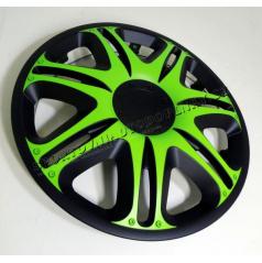 """Pokrievky na kolesá - kryty kolies Nascar Green Black  13-16"""" (po 1 ks)"""