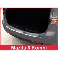 Nerez kryt-ochrana prahu zadního nárazníku Mazda 6 Kombi 2007-12