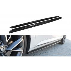 Difúzory pod bočné prahy pre Škoda Superb Mk3, Maxton Design (čierny lesklý plast ABS)