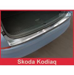 Nerez kryt- ochrana prahu zadného nárazníku Škoda Kodiaq 2016+
