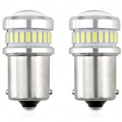 Ľad žiarovka CANbus biela 24SMD + 3030 6SMD 1156 (R5W, R10W) P21 BIELE 12V / 24V