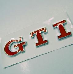 Znak GTI samolepiaci pre koncernové vozidlá VW