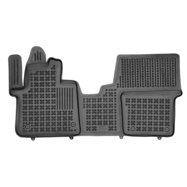 Gumové autokoberce, Peugeot Traveller, 2016->, do 1. radu sedadiel, vpredu s extra materiálom na stra
