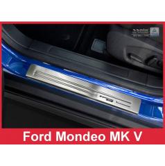 Nerez ochranné lišty prahu dverí 4ks Špeciálna edícia Ford Mondeo MK5 kombi 2014-16