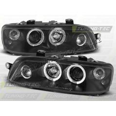 Fiat Punto II predné číre svetlá Angel Eyes black (LPFI02)