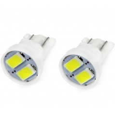 Žiarovka LED 5730 T10 12V 5W biela 2 ks