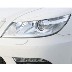 Kryty svetlometov Milotec (mračítka) - ABS čierny, Škoda Octavia II RS Fac. Lim., Combi 05/09