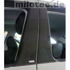 Kryty dverových stĺpikov ABS čierna metalíza, Škoda Fabia I Limousine, Sedan