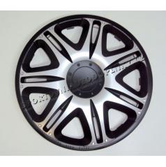 """Pokrievky na kolesá - kryty kolies Nascar silver-black 13-16"""" (po 1 ks)"""