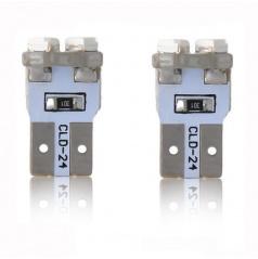 Žiarovka 8 LED T10 CANBUS s odporom biela 2 ks