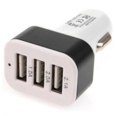 Zástrčka do zapaľovača 3x USB výstup (1,0 A 1,0 A 2,1 A), 12 / 24V
