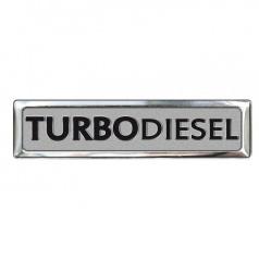 Plastický znak turbodiesel alu prevedenie s podlepením 70 x 12 mm