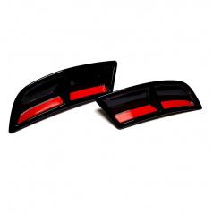 Atrapy výfuka Turbo design v prevedení RS230 Glossy black - Glowing red - Škoda Superb III